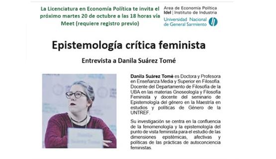 Epistemología crítica feminista. Entrevista a Danila Suárez Tomé