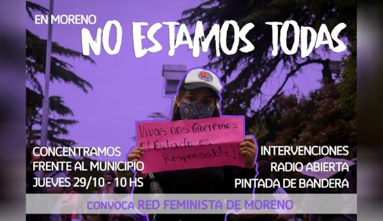 Moreno   Organizaciones feministas se reúnen con la Intendenta