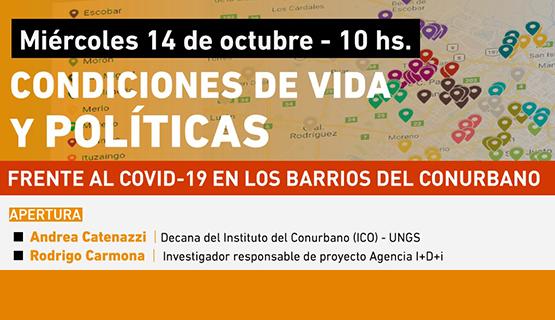 Jornada sobre condiciones de vida y políticas frente al covid-19 en el conurbano