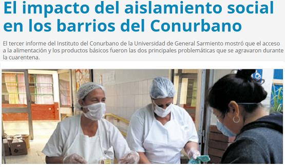 El impacto del aislamiento social en los barrios del Conurbano | El conurbano en cuarentena III en Página/12