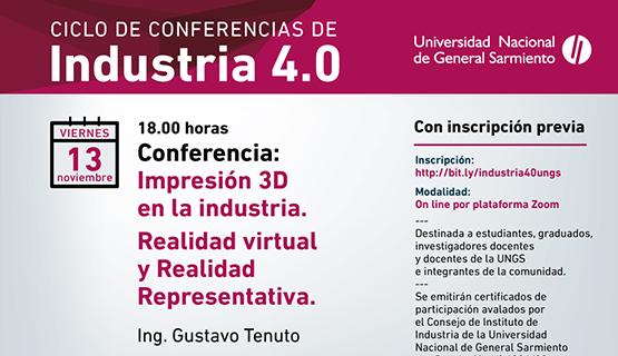 Impresión 3D y realidad virtual y representativa, en el ciclo