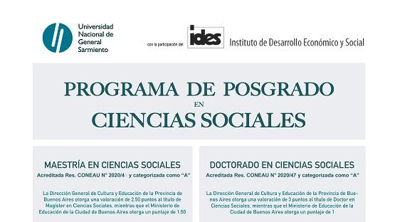 Reuniones informativas del posgrado en Ciencias Sociales