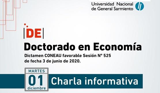 Se realizará el lanzamiento del Doctorado en Economía de la UNGS