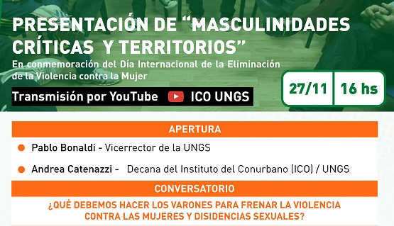 Presentación del espacio Masculinidades críticas y territorios