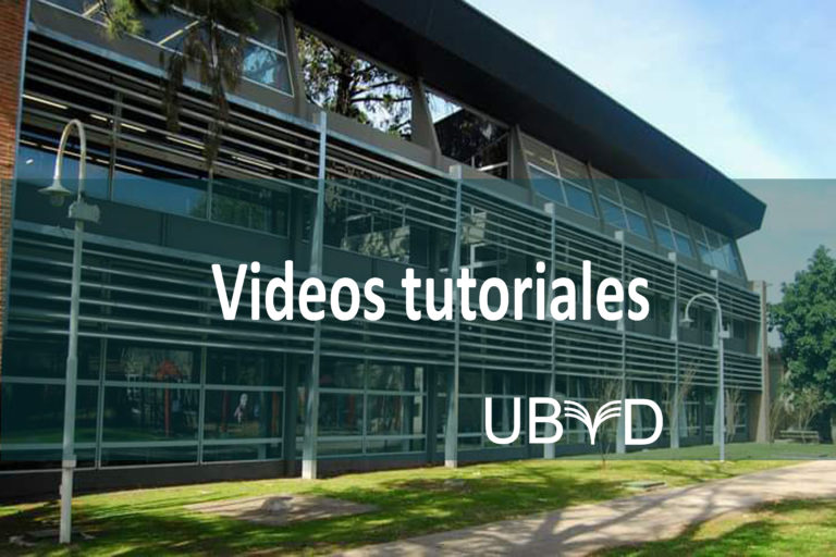 Videos tutoriales UByD