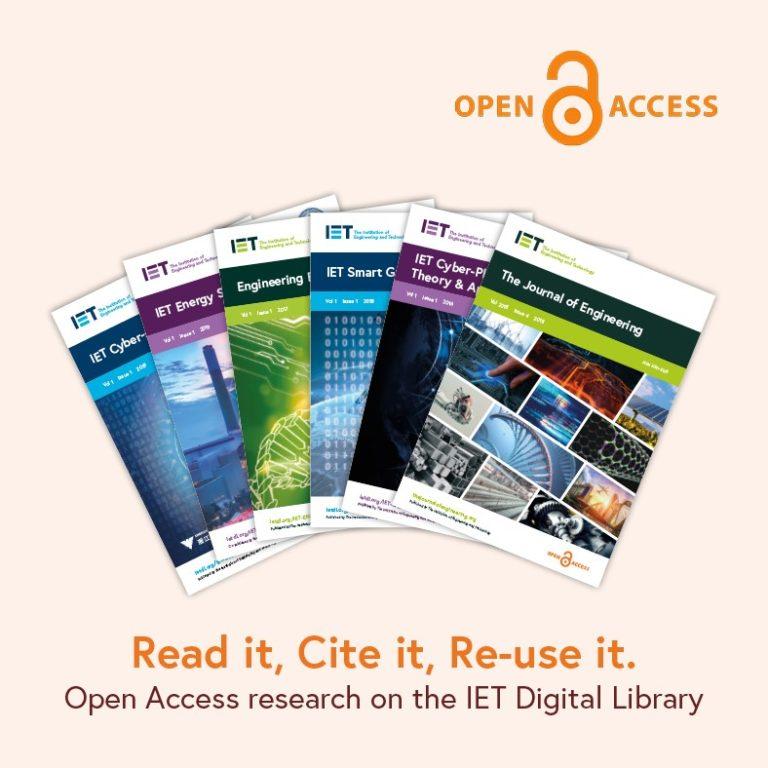 Los IET Journals serán Open Access (Acceso Abierto) a partir del 2021