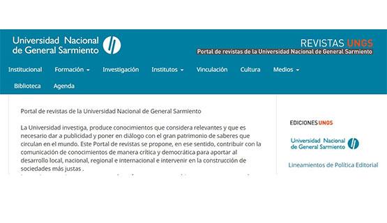 La UNGS lanzó su Portal de revistas de acceso abierto