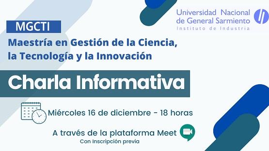 Charla informativa de la Maestría en Gestión de la Ciencia, la Tecnología y la Innovación