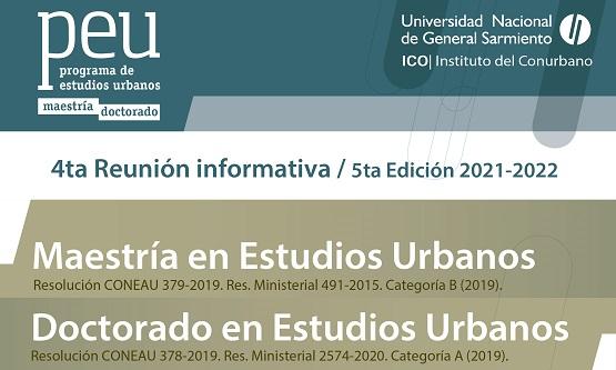 Charla informativa del posgrado en Estudios Urbanos