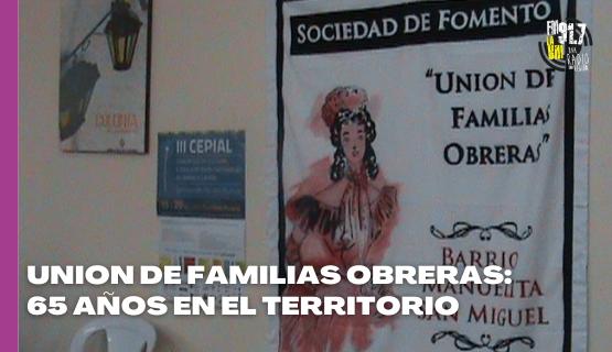 UFO: 65 años de trabajo en el Barrio Manuelita