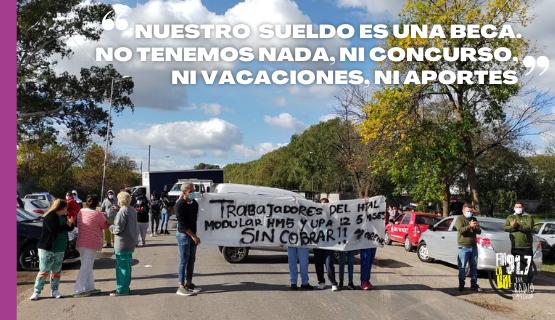 Moreno | Trabajadores de la salud reclaman el pago de sueldos atrasados