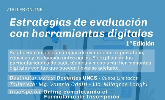 Inscripción abierta para el taller sobre estrategias de evaluación con herramientas digitales
