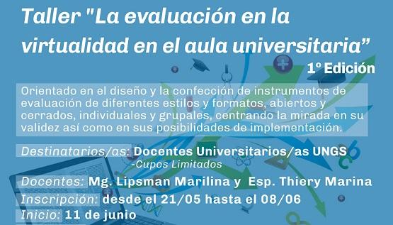 Inscripción para el taller de evaluación en la virtualidad en el aula universitaria