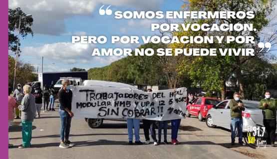 Moreno | Trabajadores de la salud reclaman el pago de sus sueldos