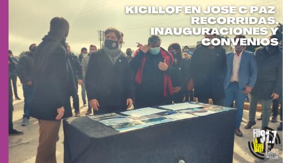 Kiciloff en José C. Paz | Recorridas, inauguraciones y convenios