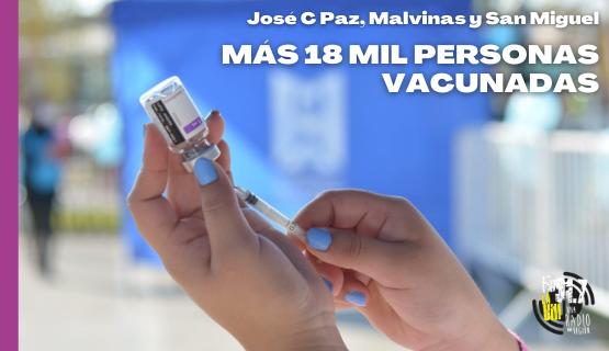 Vacunación masiva en José C Paz, Malvinas y San Miguel: Más de 18 mil personas vacunadas