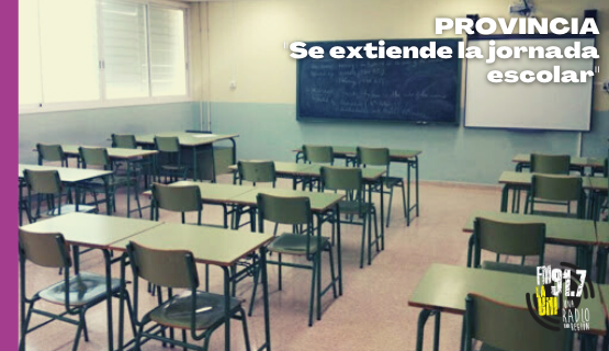 Extensión de la jornada escolar en Provincia