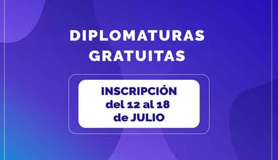 Inscripciones a las Diplomaturas gratuitas del Centro Cultural
