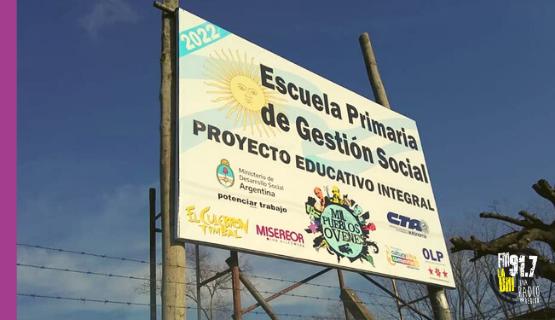 Comenzó la construcción de la escuela de gestión social en Cuartel V