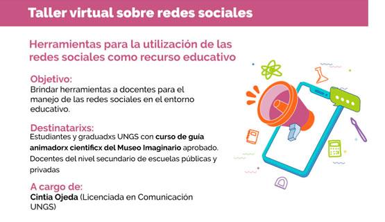 Taller virtual sobre redes sociales en el entorno educativo