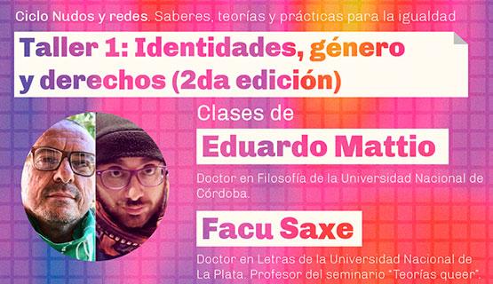 """Taller virtual """"Identidades, género y derechos"""""""