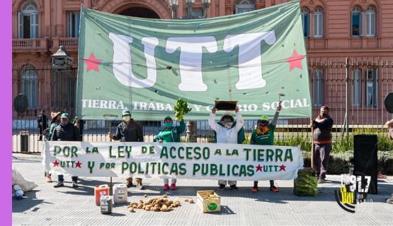 La UTT reclama la Ley de Acceso a la Tierra
