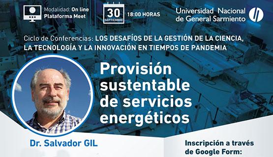 Charla sobre provisión sustentable de servicios energéticos
