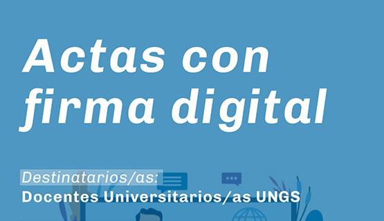 Webinar: Actas con firma digital